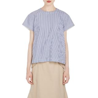Sacai Blue & White Oxford Top