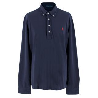 Ralph Lauren Blue Cotton Long-sleeve Polo