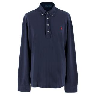 Ralph Lauren Blue Cotton Long-sleeve Polo