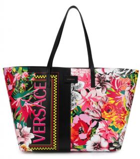 Versace floral print shopper tote