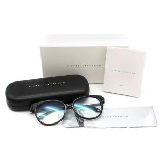 Victoria Beckham Black Classic Square Cat eye Rim Optical Glasses