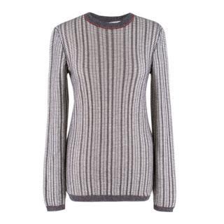 Victoria Beckham Mouline Wool Knit Sweater