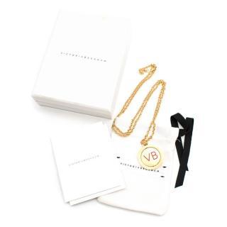 Victoria Beckham 10 Year Anniversary Revolving Pendant Necklace