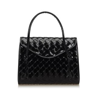 Bottega Veneta Intrecciato Patent Leather Handbag