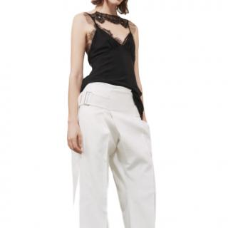 Victoria Beckham Black Lace Detail Cami Top