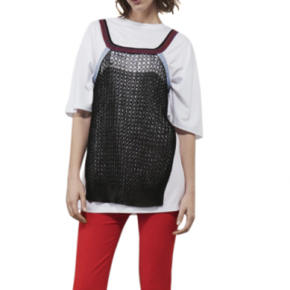 Victoria Beckham Crochet Layered Tee