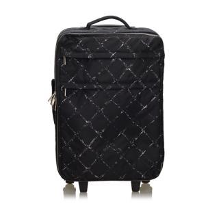 Chanel Black Old Travel Line Suitcase