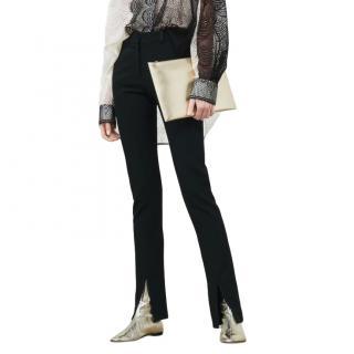 Victoria Beckham Front Split Skinny Trousers - New Season