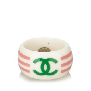 Chanel multicolored CC Ring