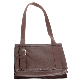 Hermes Chocolat Togo Leather Besace Messenger Bag