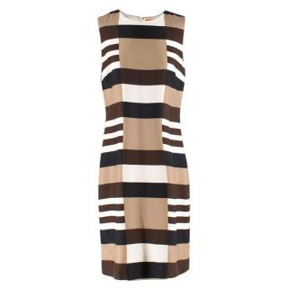 Tory Burch Striped Silk Lynda Shift Dress