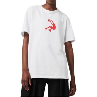 Victoria Beckham x Reebok White & Red O'Neal T-Shirt