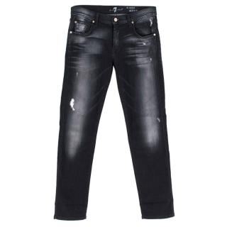 7 for All Mankind Black Wash The Relaxed Skinny Jeans