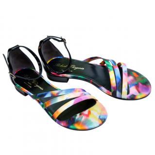 Robert Clergerie Multicoloured Asymmetric Strap Sandals