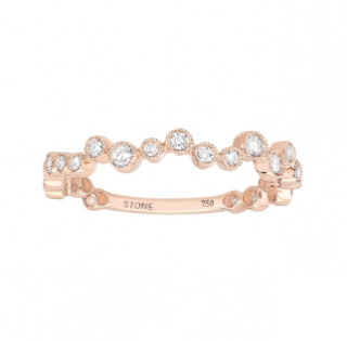 Stone Rose Gold 0.27ct Diamond Love Is In The Air Ring