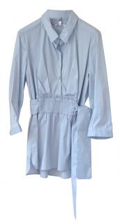 Paule Ka Blue Smocked Blouse
