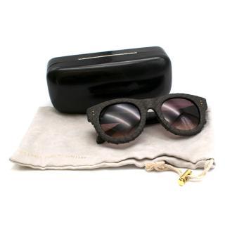 Linda Farrow Brown Python Sunglasses
