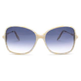 Victoria Beckham Gradient Blue Striped Frame Sunglasses