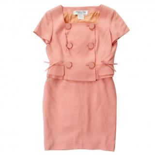 Dior Peachy Pink Fitted Skirt & Jacket