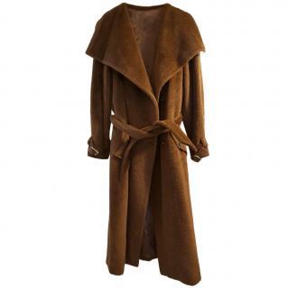Max Mara Brown Belted Teddy Coat