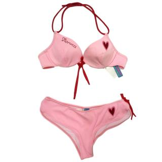 Fiorucci Pink Embellished Bikini