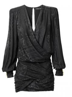 Balmain x H&M 100% Silk Jacquard-Weave Dress