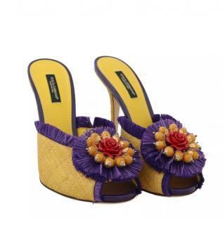 Dolce & Gabbana runway straw heeled sandals