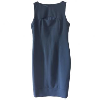 Amanda Wakeley Black Fitted Cut-Out Dress