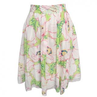 Moschino Cheap & Chic Floral Print Skirt