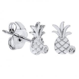 Sydney Evan Pineapple Diamond Stud Earrings