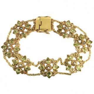 Bespoke Antique Peridot & Seed Pearl Bracelet