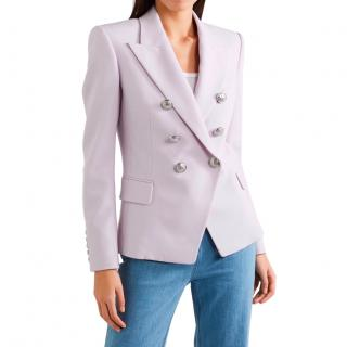 Balmain Lilac Double Breasted Wool Blazer