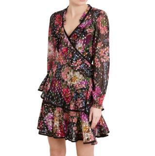 Needle & Thread Midsummer Shimmer Mini Wrap Dress