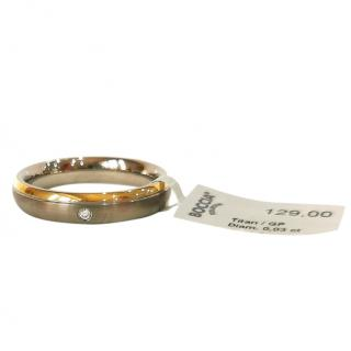 Boccia Men's Titanium Diamond Band Ring