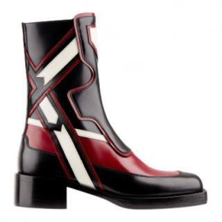 Dior Diorally calfskin leather ankle boots
