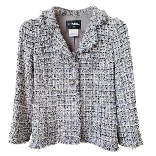 Chanel Metallic Tweed Boucle Knit Jacket