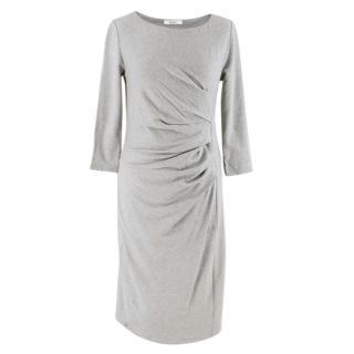 Max Mara Grey Ruched Midi Dress