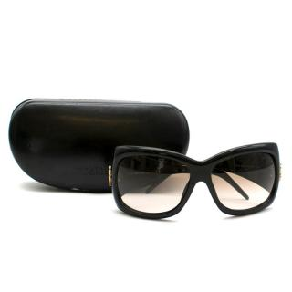 Roberto Cavalli Black Embellished Gradient Sunglasses