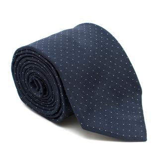Breuer Silk Navy Polka Dot Tie