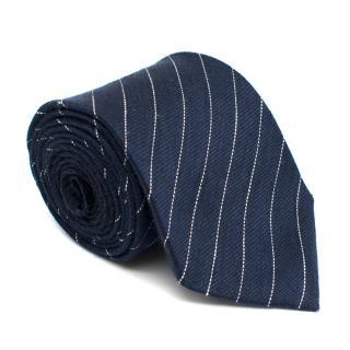 Dunhill Silk Blue Striped Tie