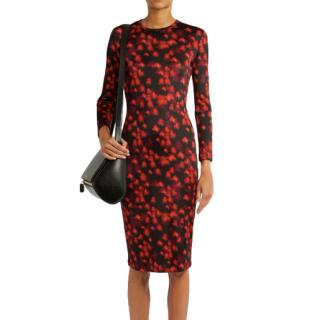 Givenchy Black Abstract Floral Dress