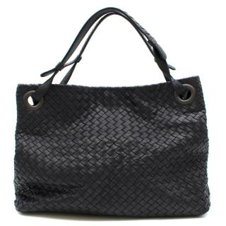 Bottega Veneta Black Intrecciato Nappa Leather Tote Bag