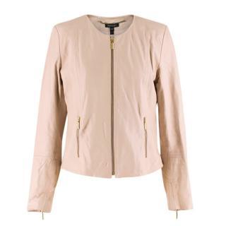Baukjen Light Pink Leather Jacket