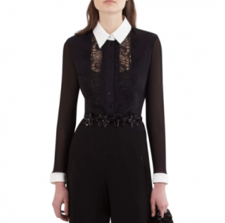 Anne Fontaine Black Lace Elfie Blouse