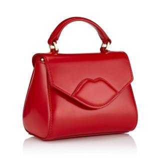 Lulu Guiness Red Leather Mini Lips Bag