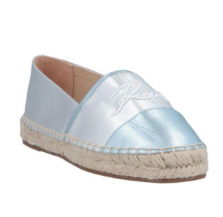 Karl Lagerfeld Metallic Embroidered Espadrilles