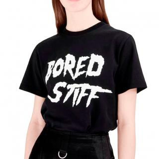 McQ Bored Stiff Black Logo T-Shirt