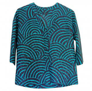 Vanessa Seward blue printed top