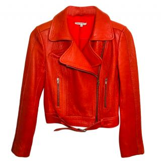 Carven Orange Biker Jacket