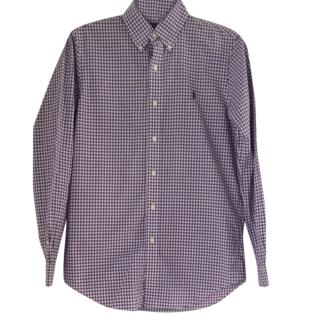 Ralph Lauren Purple & White Check Shirt